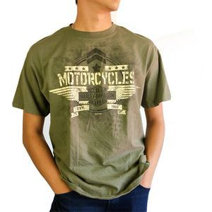 2017 Harley Davidson Army Green T-shirt Size Large